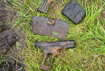 WWII Relics found with magnets on the Eastern Front